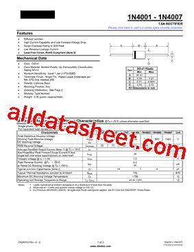 diode 4007 datasheet 1n4007 datasheet pdf diodes incorporated