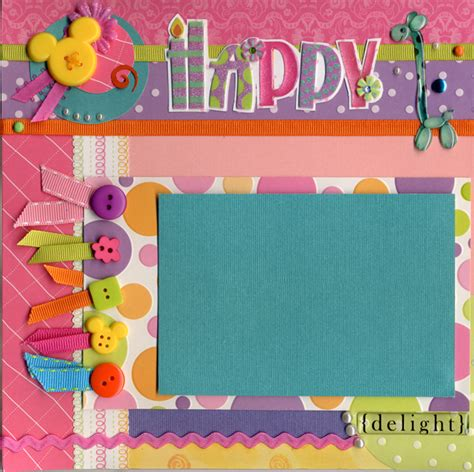 layout design for 18th birthday layout birthday balloons left page