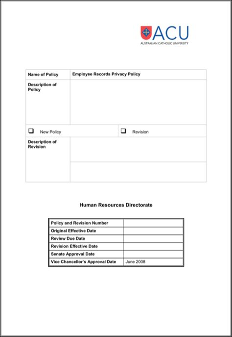 Download Employee Record Templates For Free Formtemplate Employee Privacy Policy Template