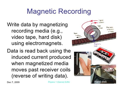 principle of electromagnetic induction in recording system electromagnetic induction