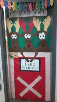 Reindeer Door Decorations by Door At School I Decorated For Quot You Re Like Martha Stewarts Quot