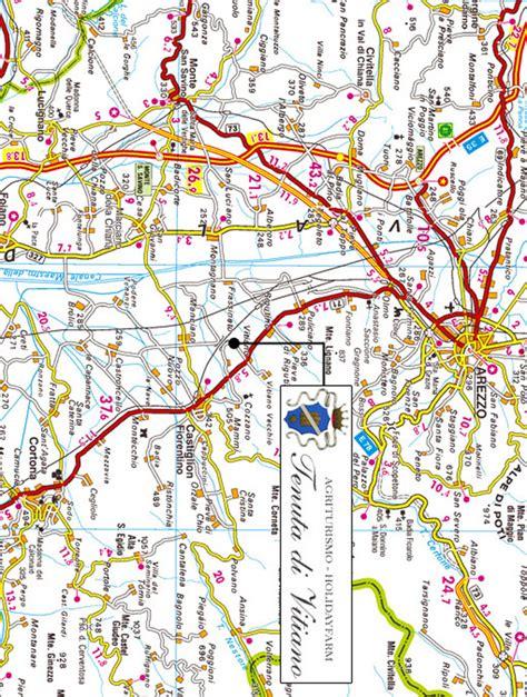 printable map tuscany holidayfarm in tuscany tenuta di vitiano how to reach us