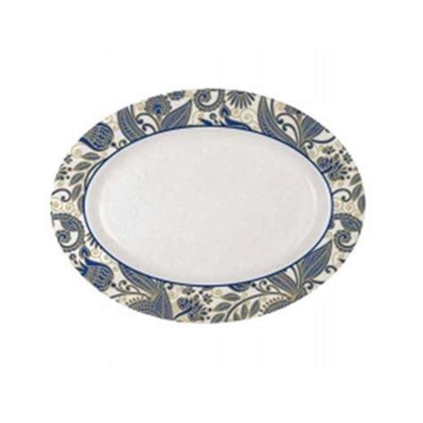 jual piring oval motif batik onyx isi 12pcs 1512s murah
