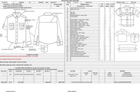 technical data package template exle of spec sheet johanna stacey perez portfolio
