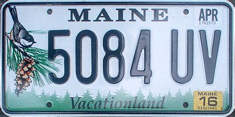 Maine State Vanity Plates by Maine 2 Y2k