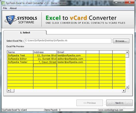 converter excel systools excel to vcard converter download