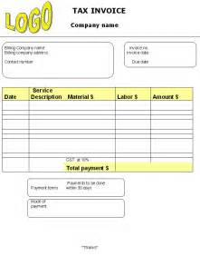 blank tax invoice template tax invoice template invoice templates