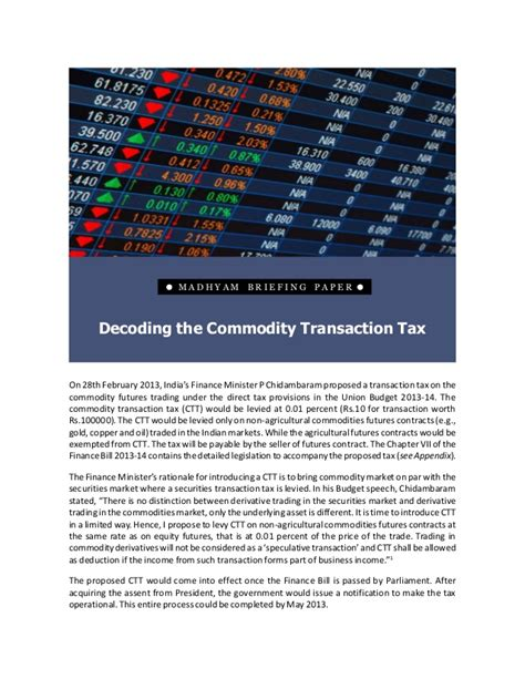 commodity transaction decoding the commodity transaction tax