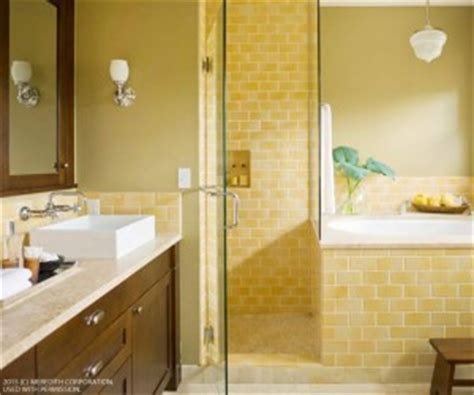 bright yellow bathroom cheery bright yellow bathroom designs better homes and