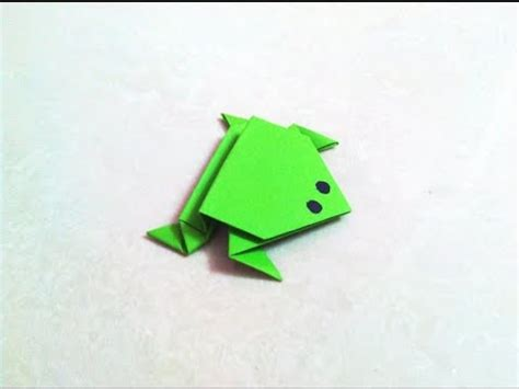Frog Paper Folding - how to make an origami paper frog origami paper