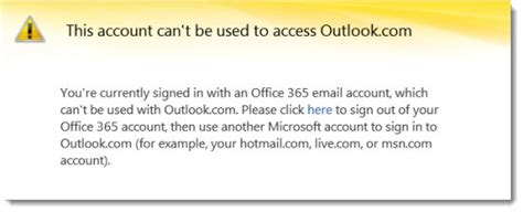 Office 365 Outlook Error Use Inprivate To Manage Identities