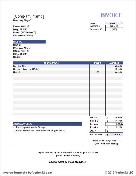 free open office invoice template free invoice template career