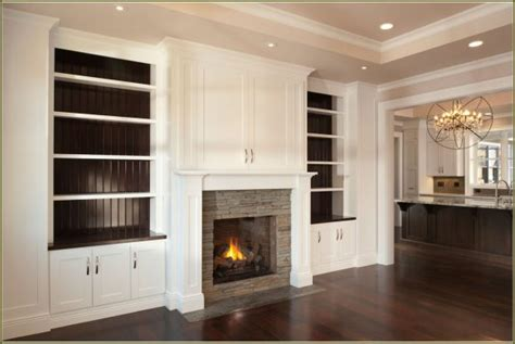 fireplace built in cabinets plans furniture the built in shelving around fireplace to give