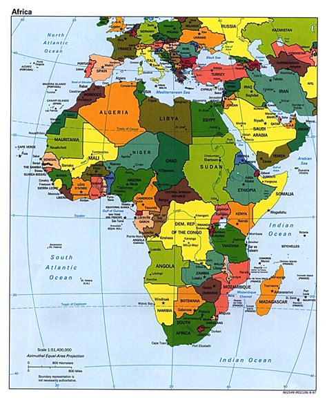 africa map in maps of africa and countries political maps