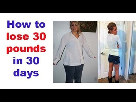 How To Shed Pounds In Days by Lose 30 Pounds In A Month Best Diet Solutions Program