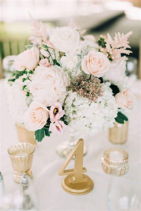 elegant blush wedding centerpieces   big day
