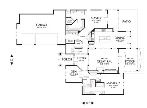 Mascord Floor Plans by Mascord House Plan 2396 3 Car Garage House Plans And