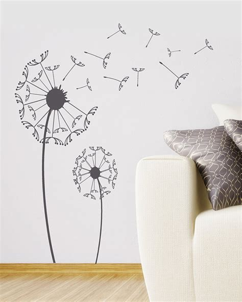 large wall sticker dandelion wall decal large wall sticker set with by householdwords