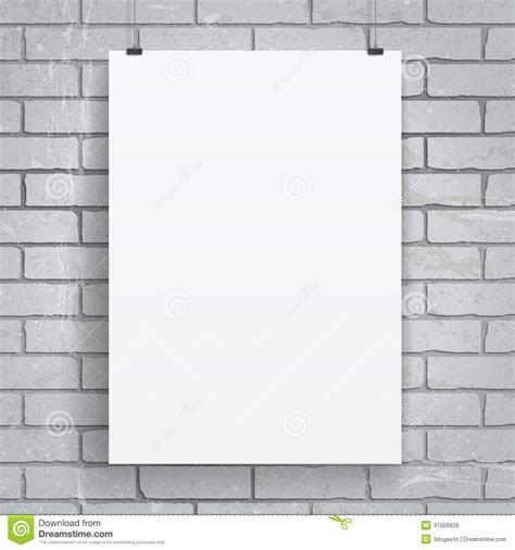 How To Make A Poster On Paper - blank paper poster stock vector image 41056626