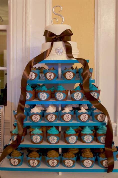 my diy wedding cupcakes turquoise and brown weddingbee photo gallery
