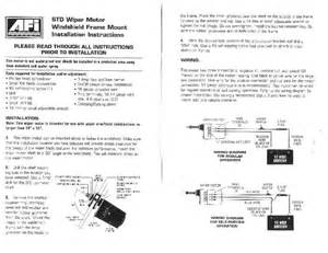 wiring a self parking windscreen wiper dc motor