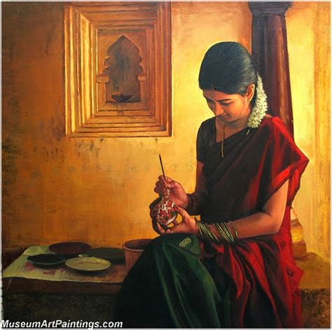 biography of indian artist rural indian women paintings 018