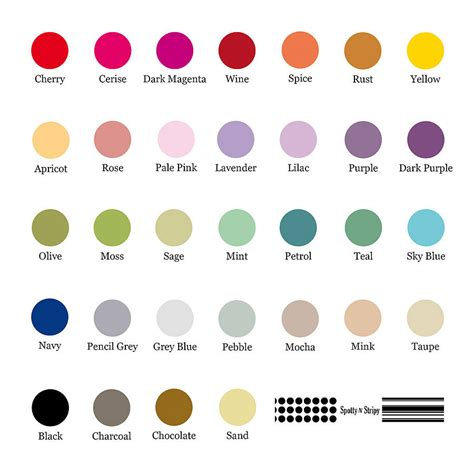 wedding color swatches personalised wedding details card by spotty n stripy