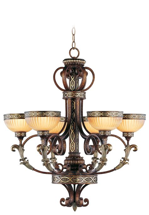 Livex Chandelier Livex Lighting Seville Chandelier Palacial Bronze With Gilded Accents 8526 64