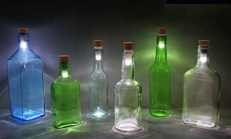 led flaschen beleuchtung originelle led leuchte verleiht glasflaschen einen