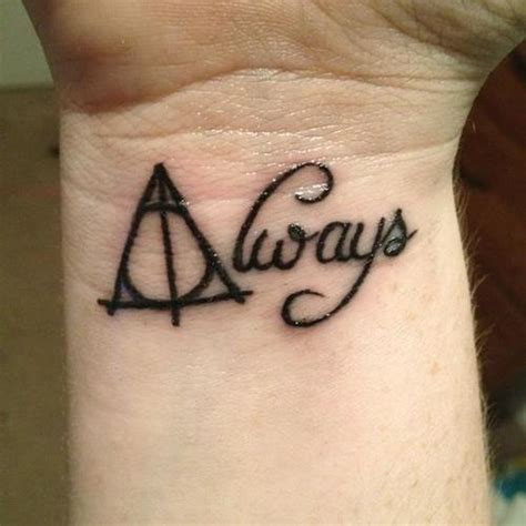 simple harry potter tattoos harry potter and the deathly hallows wrist ink