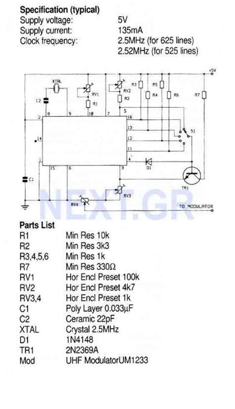 video pattern generator ic tv pattern generator zna234e signal processing