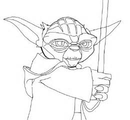 Yoda Drawing Outline by Yoda Outline Pictures To Pin On Pinsdaddy