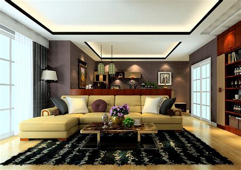 Superior House Style And Design #4: South-Korea-neoclassical-style-living-room-ceiling-and-rug.jpg