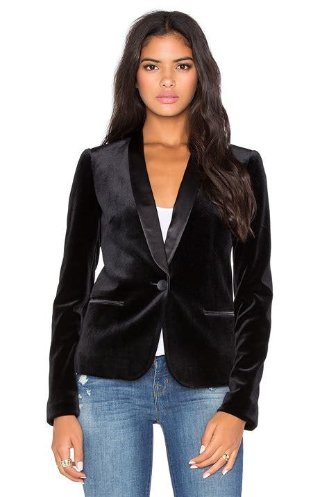 Vest Blazer Black lyst tuxedo jacket in black