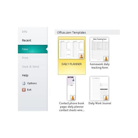 daily planner template publisher microsoft publisher daily calendars