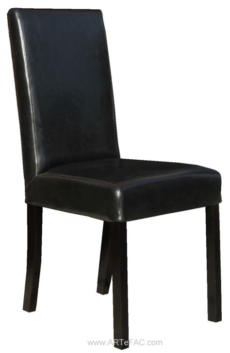 Black Dining Room Chairs | quot black leather dining room chairs and leather bar stools