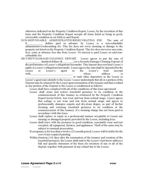 sle parking lease agreement washington standard residential lease agreement free