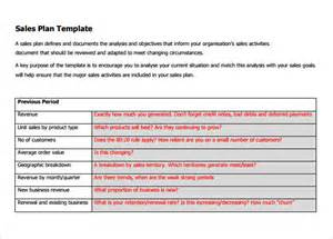 Business Plan Template For Sales by Sle Sales Plan Template 17 Free Documents In Pdf