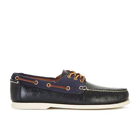 polo boat shoes mens polo ralph lauren men s bienne ii leather canvas boat