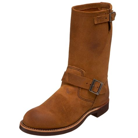 mens engineer boots wing mens 11 engineer boot in brown for burnt