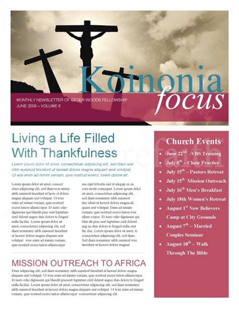 Jesus On The Cross Church Newsletter Religious Newsletter Templates Free