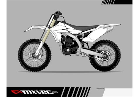motocross bike free motocross bike vector template free vector at vecteezy