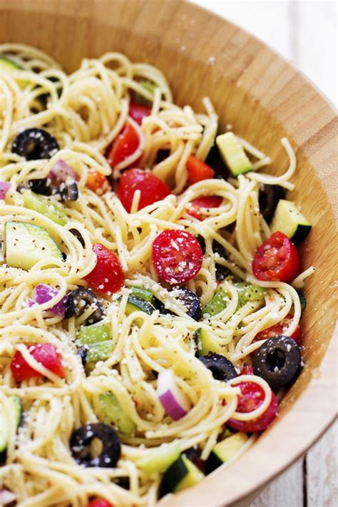 pasta salad with spaghetti noodles california spaghetti salad the recipe critic