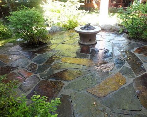 Slate Rock Patio slate flagstone patio priest lake idaho woodstone deco rock