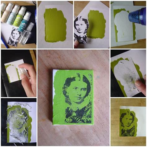 acrylic paint diy diy photo transfer using acrylic paint