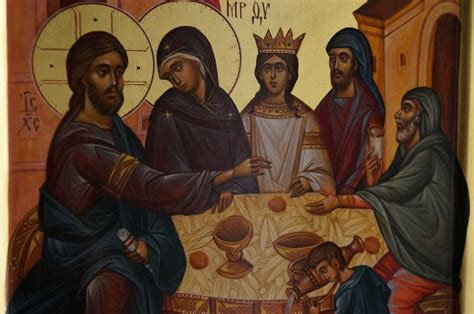 Who Painted The Wedding At Cana by The Wedding At Cana Painted Icon Blessedmart