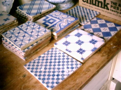 french blue and white ceramic tile backsplash inspirations vintage tile and salvoweb vintage french blue