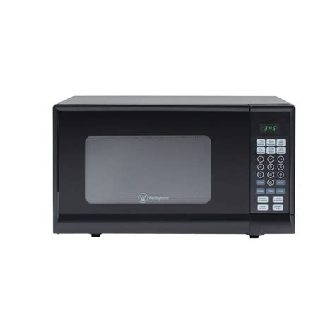 westinghouse 0 6 cu ft counter top microwave in black westinghouse 0 9 cu ft 900 watt countertop microwave in