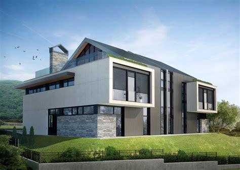 House Design Architecture Twin Houses Dragalevtsi Atelier Serafimov Architects