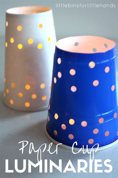 Crafts With Paper Cups - paper cup luminaries for winter solstice activities